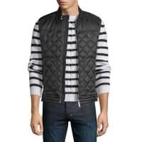 MonclerRod Quilted Nylon Moto Vest, Black