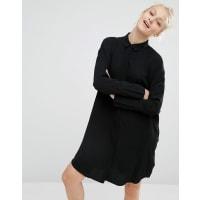 MonkiOversized Shirt Dress - Black