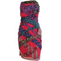 Moschino1980s Moschino Couture Vintage Silk Tie Dress