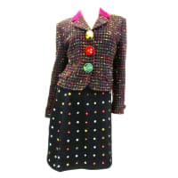 MoschinoCheap And Chic Multi-colored Suit With Animal Buttons