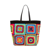 MoschinoCrochet Patchwork Tote Bag, Multi