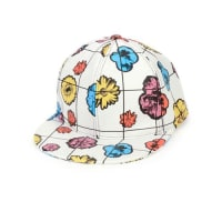 MoschinoFloral Leather Baseball Cap, White/Multicolor