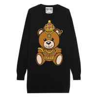MoschinoIntarsia Cotton-jersey Mini Dress - Black
