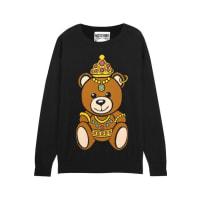 MoschinoIntarsia Cotton-jersey Sweater - Black