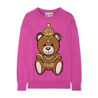 MoschinoIntarsia Cotton Sweater - Pink