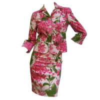 MoschinoItaly Floral Print Cotton Skirt Suit Cheap & Chic Us Size 4