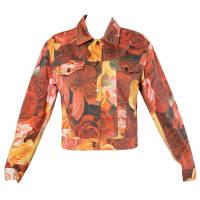 MoschinoJeans Vintage 1990s Floral Photo Print Denim Jacket