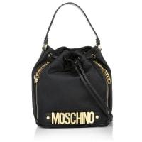 MoschinoUmhängetaschen - Logo Medium Nylon Bucket Bag Black - in gold, schwarz für Damen