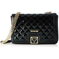 Love MoschinoLove Moschino Womens JC4017 Hobos and Shoulder Bag, Black (Black), 6x18x29 cm (B X H X T)