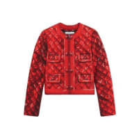 MoschinoPrinted Crepe Jacket - Red