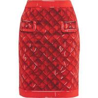 MoschinoPrinted Crepe Skirt - Red
