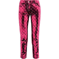 MoschinoPrinted Crepe Slim-leg Pants - Pink