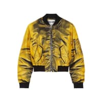 MoschinoPrinted Gabardine Bomber Jacket - Marigold