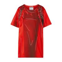 MoschinoPrinted Stretch-satin T-shirt Dress - Red