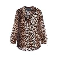 MoschinoRuffle-trimmed Leopard-print Crepe De Chine Blouse - Leopard print