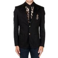 MoschinoStretch Cotton blazer with $ gold Herbst/Winter