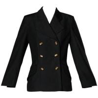 MoschinoVintage 90s Black Blazer Jacket With Novelty thimble Buttons