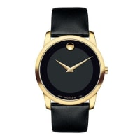 Movado40mm Museum Classic Watch with Leather Strap