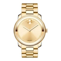 Movado42.5mm Gold IP Stainless Steel Watch