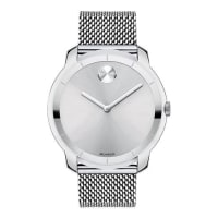 Movado44mm Bold Watch with Mesh Bracelet, Silver