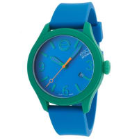 MovadoEsq By Movado Esq One 07301465 Unisex Blue Dial Watch With Silicone Strap
