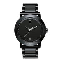 Movado42mm Museum Sport Watch, Black