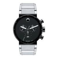 MovadoSapphire Synergy Chronograph Watch, Silver/Black