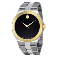 MovadoMens Steel Analog Quartz Watch, 42mm