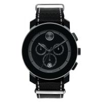 MovadoNylon Quartz Round Watch, 43.5mm