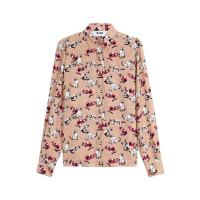 MsgmBedruckte Bluse aus Seide