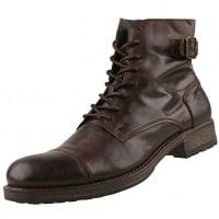 MustangHerren Leder-Stiefel Braun, Schuhgröße:EUR 46