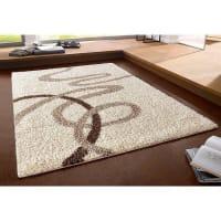 My HomeHoogpolig rechthoekig tapijt met grafisch motief MY HOME