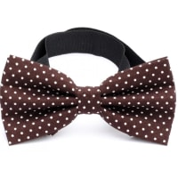 NeckwearBow Tie Cotton Collection Dk.Brown Dots