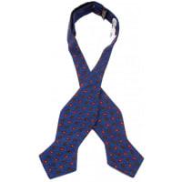 NeckwearClevedon Diamond tip Wool Self Tie Bow Tie
