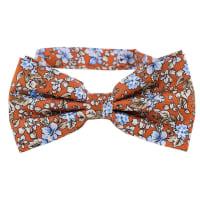 NeckwearFloral Bow Tie   Orange Blue