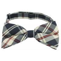 NeckwearBow Tie Tartan Collection Beige