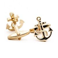 NeckwearCufflink Anchor - Gold