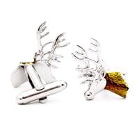 NeckwearCufflink Reindeer - Silver