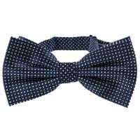 NeckwearSilk Bow Tie Microdots   Dark Navy