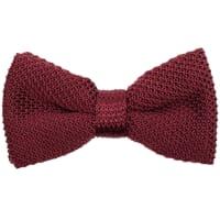 NeckwearKnitted Silk Bow Tie - Burgundy