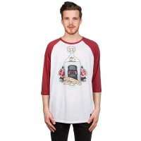 NeffFlash Disney Raglan T-Shirt white / maroon / bianco