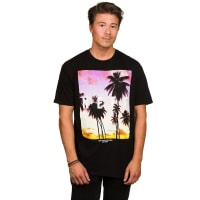 NeffQuad Sunset T-Shirt black / nero