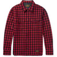 NeighborhoodSlim-fit Buffalo-checked Wool-blend Overshirt - Red