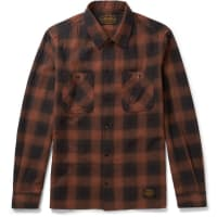 NeighborhoodSlim-fit Checked Cotton-flannel Shirt - Red