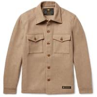 NeighborhoodWool-blend Flannel Overshirt - Sand