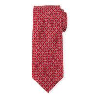 Neiman MarcusBoxed Chain-Pattern Silk Tie, Red
