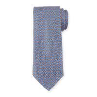 Neiman MarcusBoxed Chain-Pattern Silk Tie, Royal