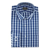 Neiman MarcusClassic-Fit Check Dress Shirt, Blue