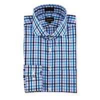 Neiman MarcusClassic-Fit Non-Iron Check Dress Shirt, Blue