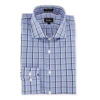 Neiman MarcusClassic-Fit Non-Iron Plaid Dress Shirt, Blue